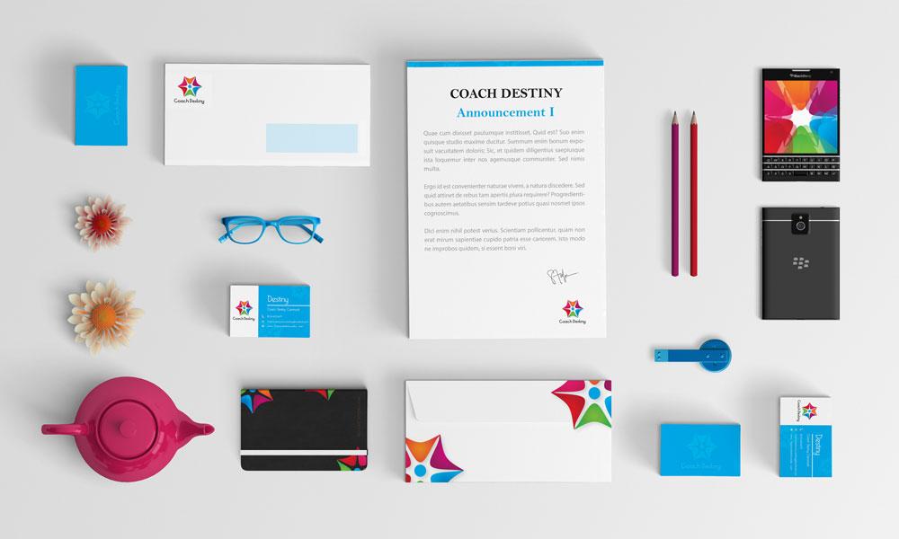 Coach Destiny - Logo and Brand Stationary Design