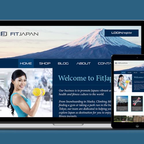 FitJapan Web UI Design
