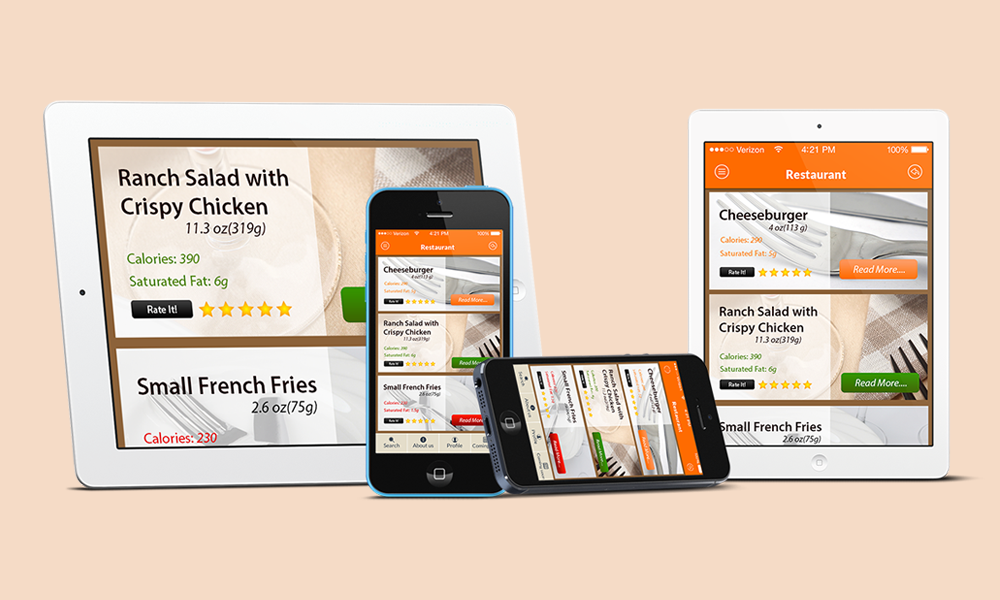 FoodGuruz - Responsive App UI Design