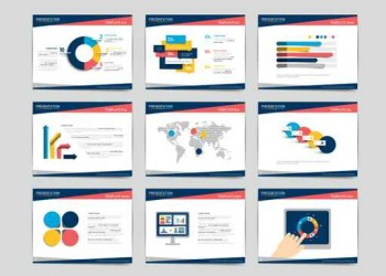 Presentation business templates. Infographics for leaflet, poste