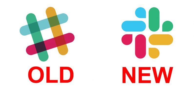 Slack logo - old and new