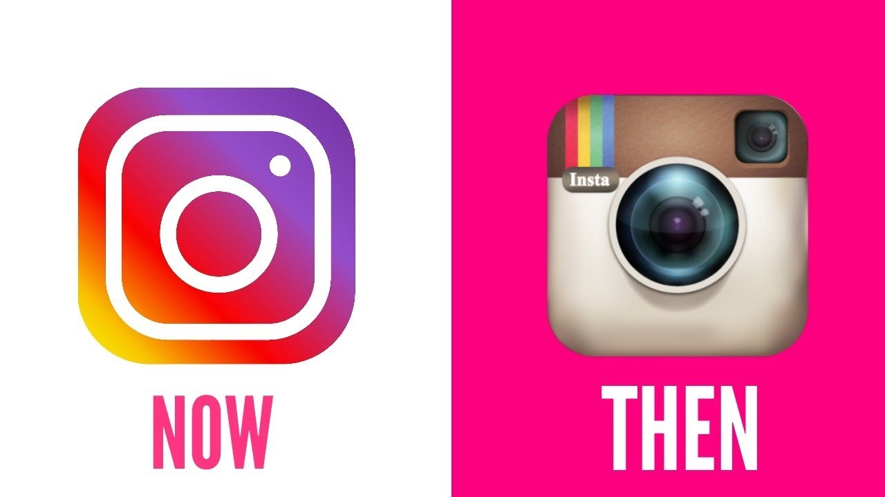 Instagram logo -before and after